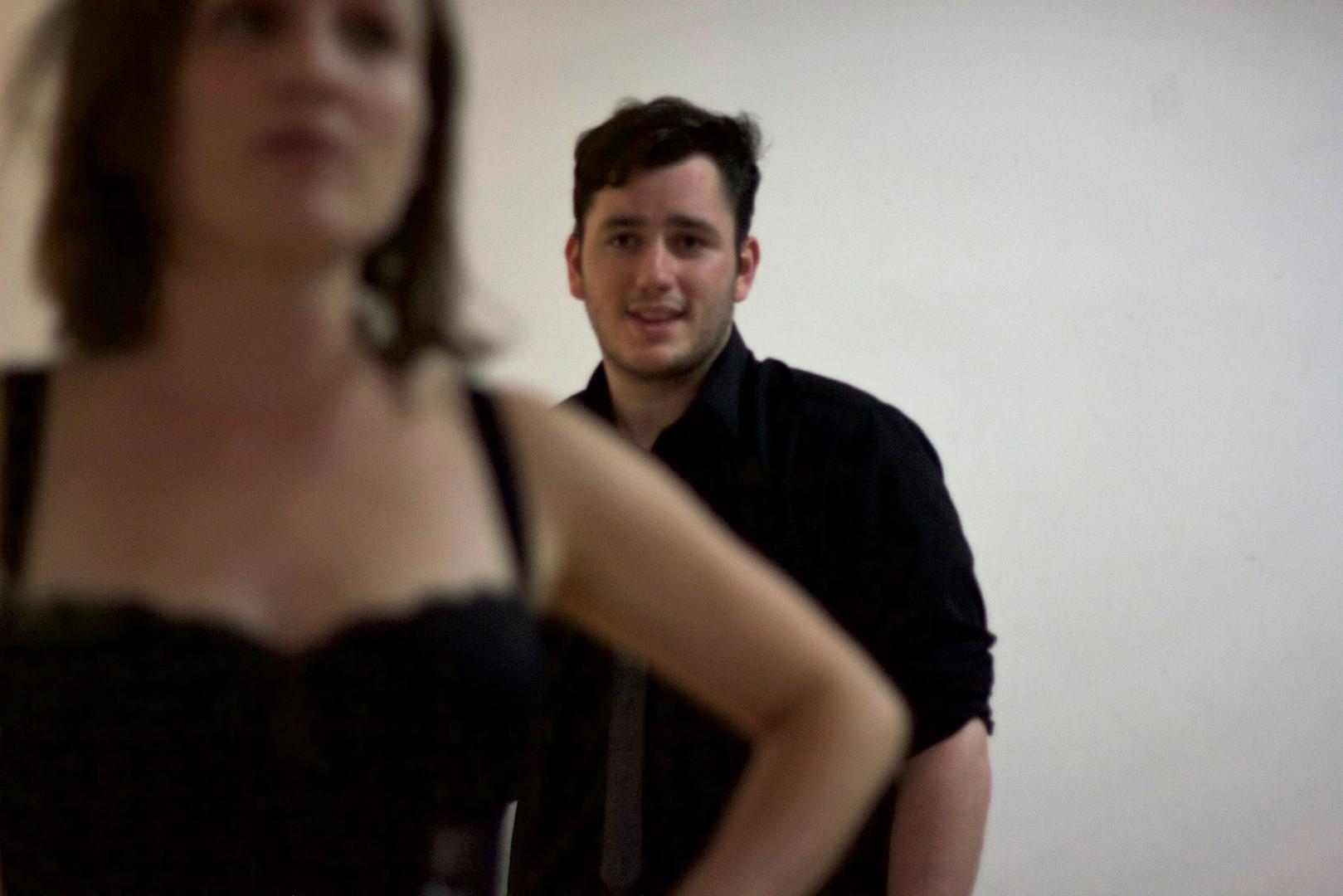 """Thomas Finn as Ronnie in """"Kill Sister, Kill! A Musical"""". Photo by Emily Dix."""