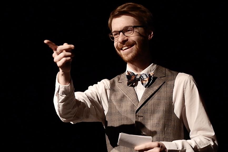 Matt McGrath in Bygone Theatre's Vaudeville Revue.