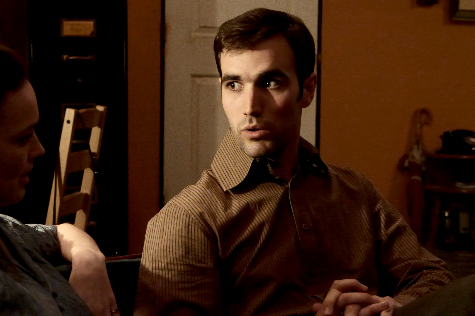 "Mark Nocent in Bygone Theatre's ""Wait Until Dark"". Photo by Emily Dix."