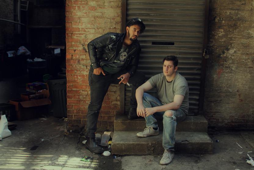 "Aaron Maxwell Williams as Dagger and Thomas Finn as Ronnie in ""Kill Sister, Kill! A Musical"". Photo by Amy George."
