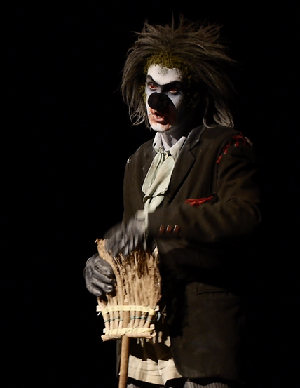 Mullet the Clown in Bygone Theatre's Vaudeville Revue.