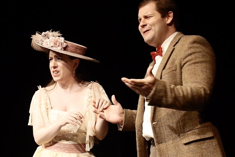 Elizabeth Rose Morriss and Eric Lehman in Bygone Theatre's Vaudeville Revue.