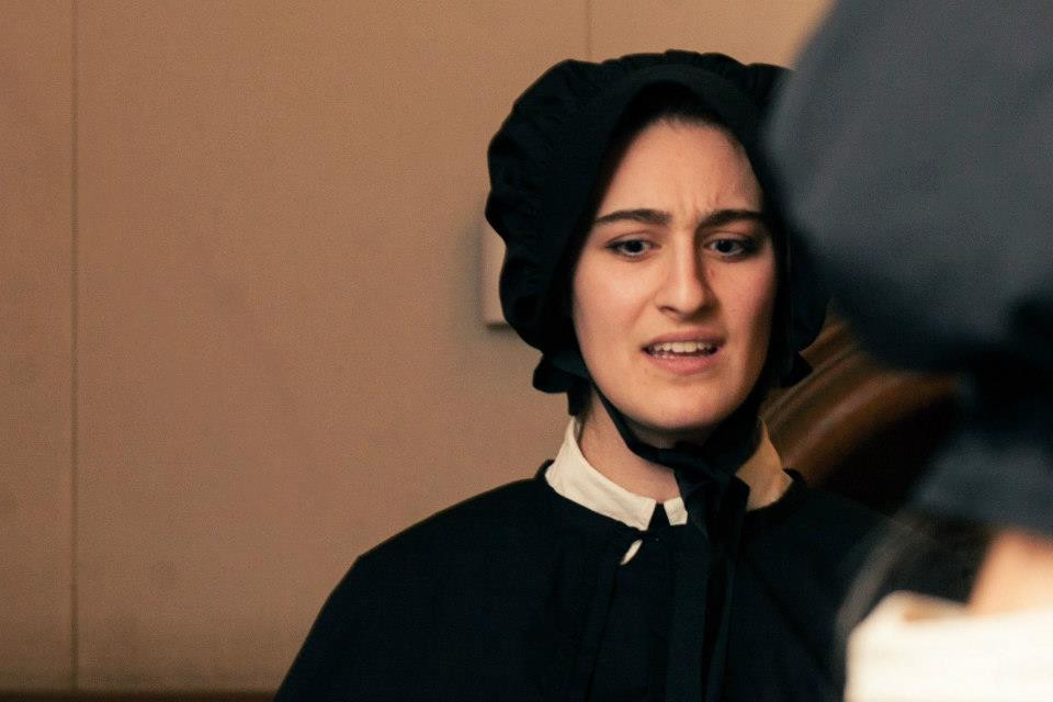 """Maja Rakocevic in Bygone Theatre's """"Doubt: A Parable"""". Photo by Danielle Son."""