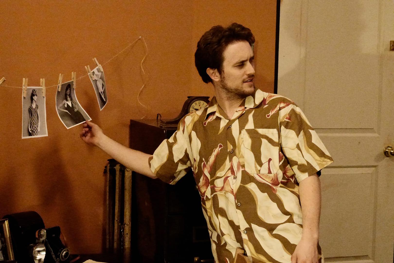 """Dave Walpole in Bygone Theatre's """"Wait Until Dark"""". Photo by Emily Dix."""