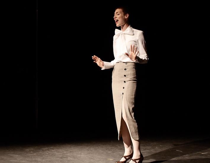 Nicole Byblow in Bygone Theatre's Vaudeville Revue.