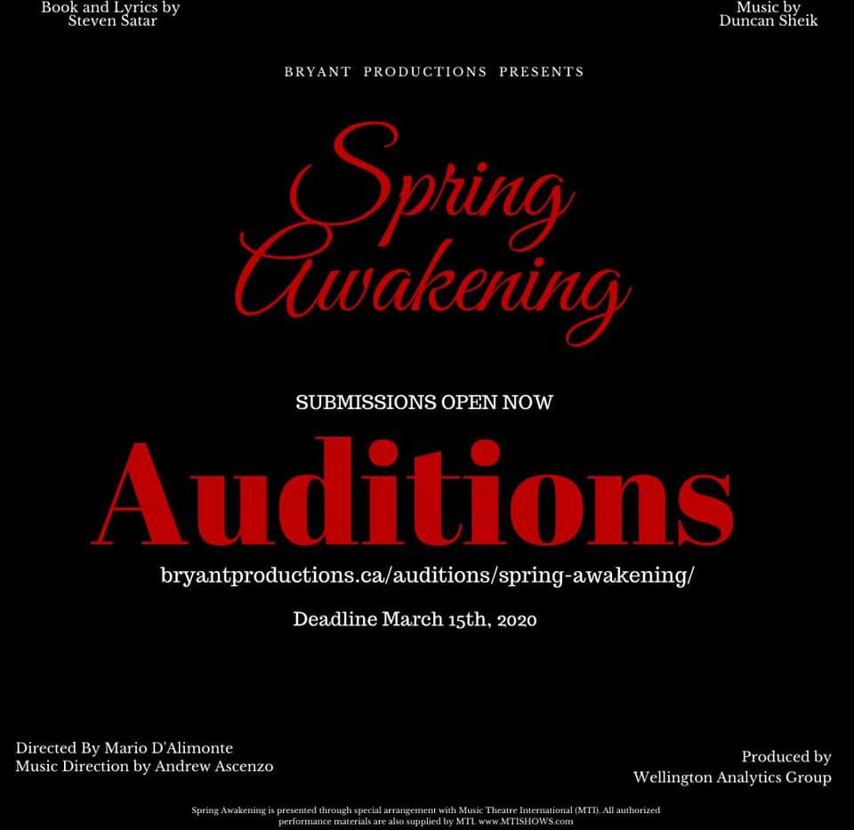 Spring Awakening Auditiona