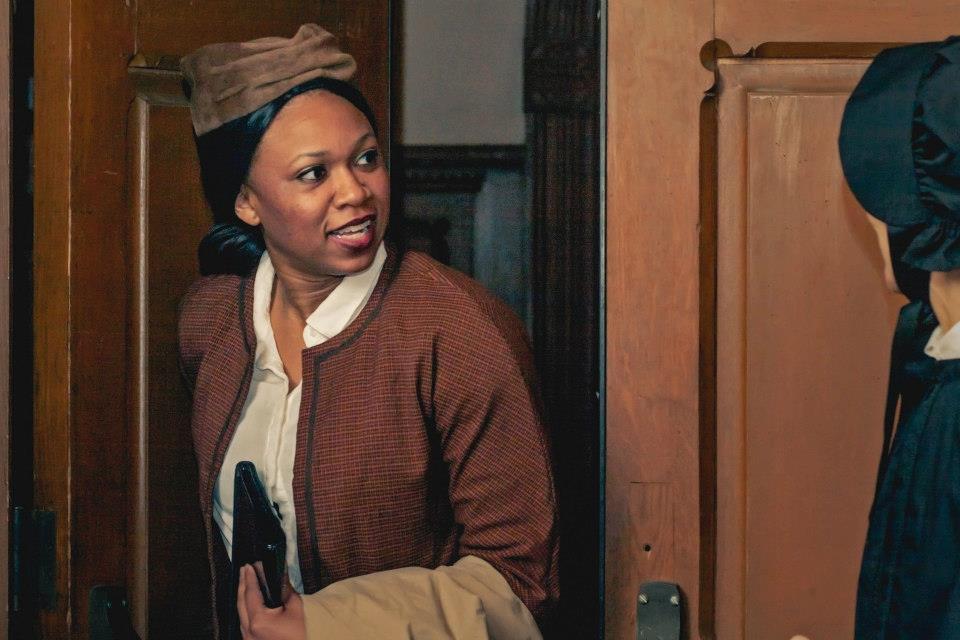 "Karen Simpson in Bygone Theatre's ""Doubt: A Parable"". Photo by Danielle Son."