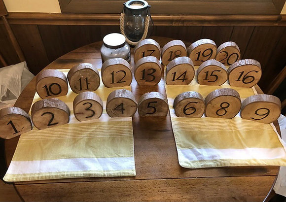 Wood Table Numbers (#1)