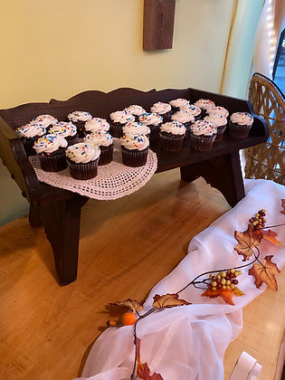 Antique Wagon Seat Cupcake Stand