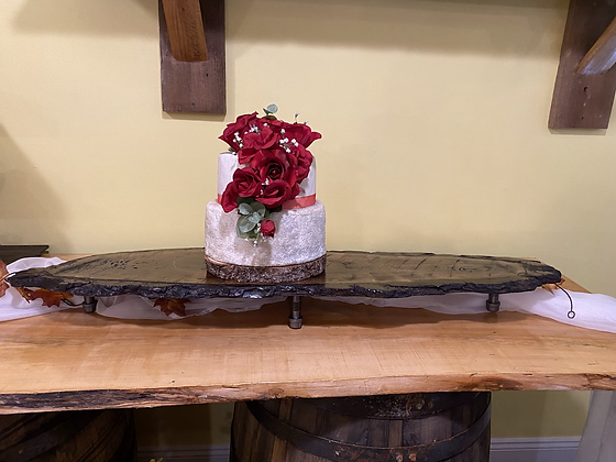 Oval Wood Cake Stand