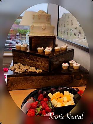 3-tier Box Cupcake stand