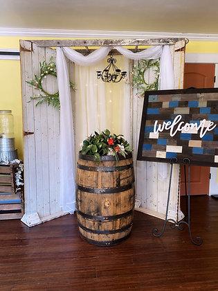 Barn Door Wedding Arch