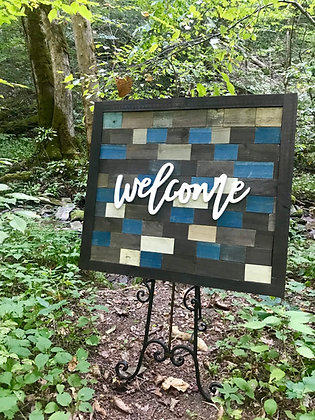 Rustic Welcome Sign (add easel for only $7)