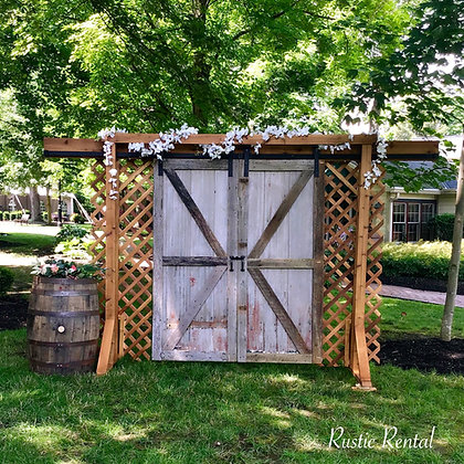 Rustic Barn Door wedding entrance Arbor(requires delivery and set up-additional)