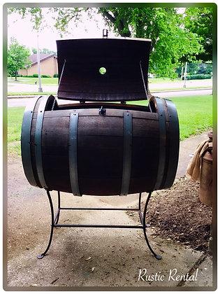 Whiskey Barrel Beverage Cooler