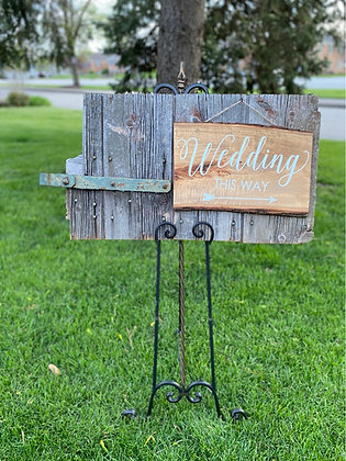 Rustic sign (Add Easel for only $7 more)