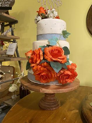 Pedestal Wood Cake Stand