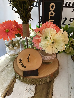 Wooden Table numbers (#2)