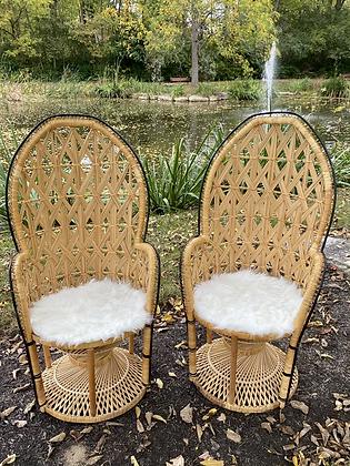 Peacock Chair Pair