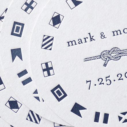 Letterpress Coasters for Monica & Mark