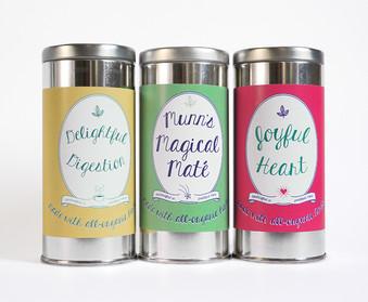 KT's Teas branding