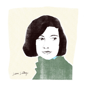 Susan Sontag (after a photo by Paul Popper)