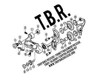Troy Bike Rescue Sticker Design