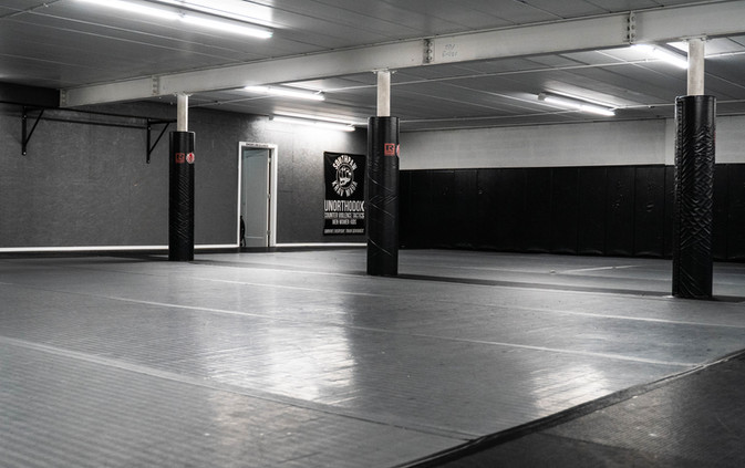 Matted Wall and Floor Space DEsoigned for Grappling, MMA and Krav Maga