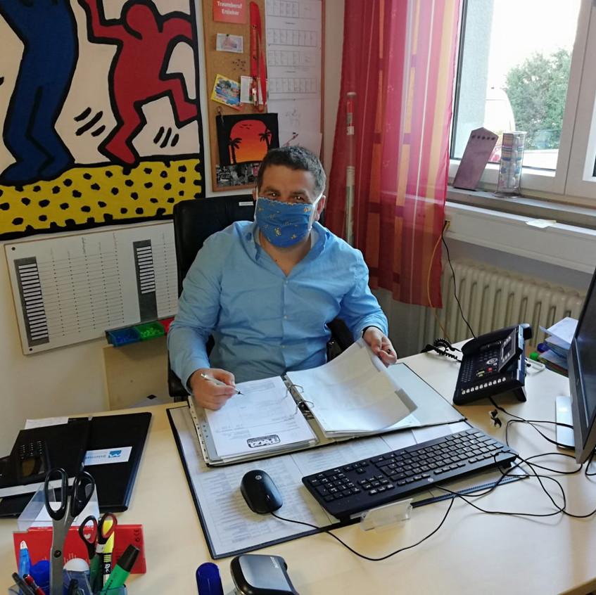 Herr Fehr bei der Arbeit...