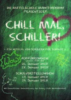 Chill mal, Schiller!