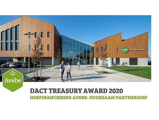 DACT TREASURY AWARD 2020 - Herfinanciering AVEBE: duurzaam partnership