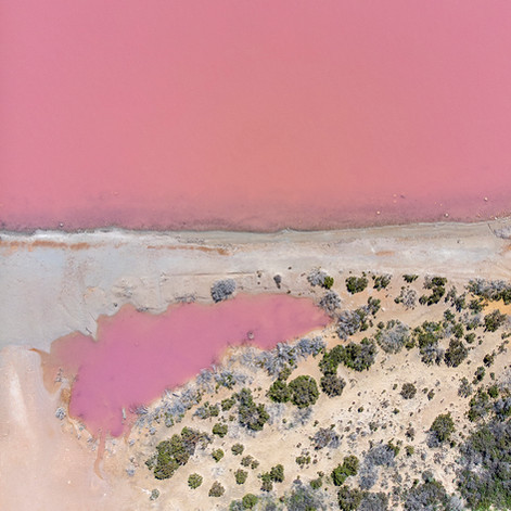 Pink Lake of Port Gregory, Western Australia