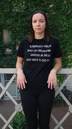 Push Yourself Black T-Shirt