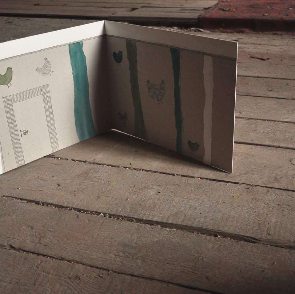 Papírová kulisa zelená s motivem slepice