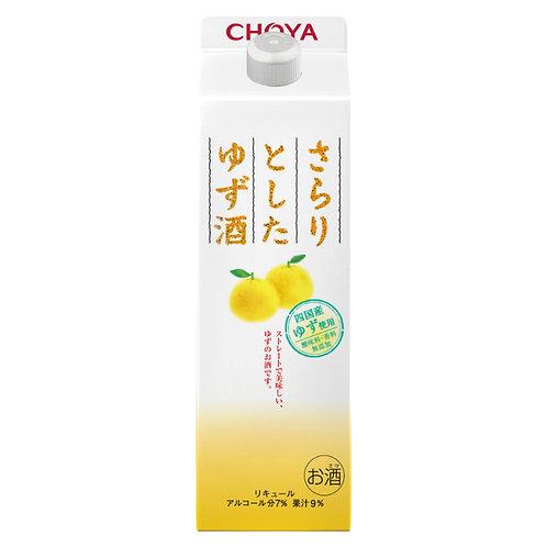 日本 Choya 香滑柚子酒 紙盒裝 1L