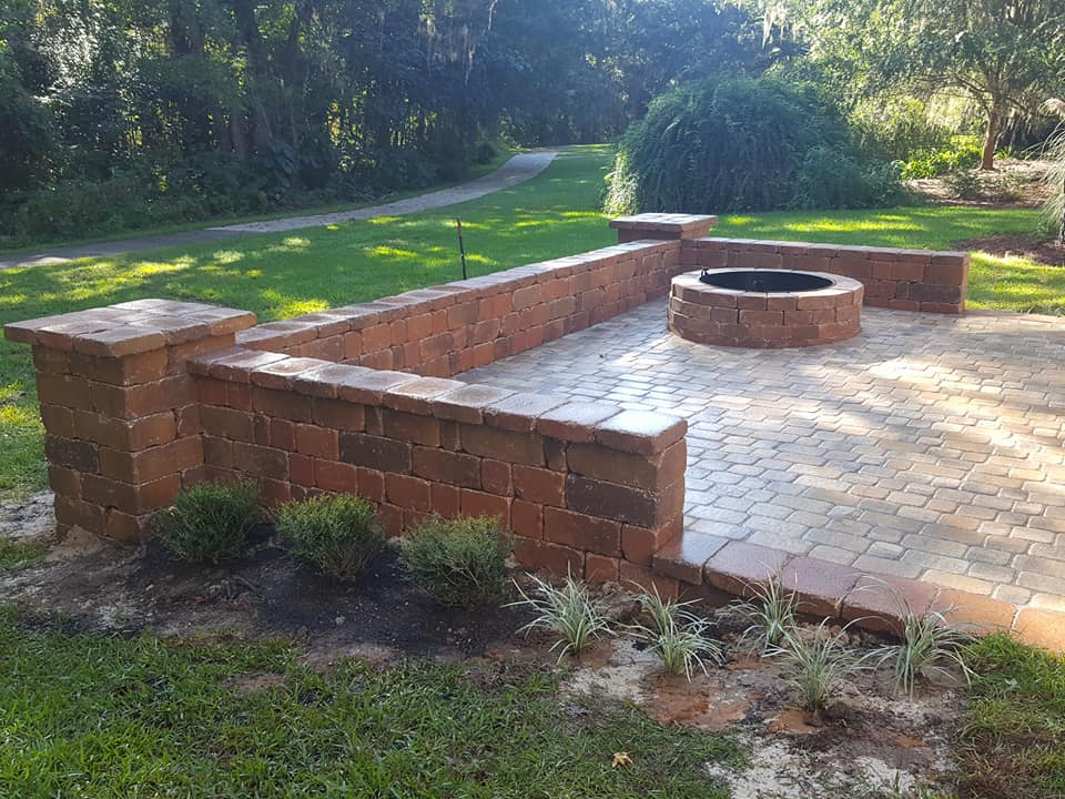Belgard Patio and Sitting Wall