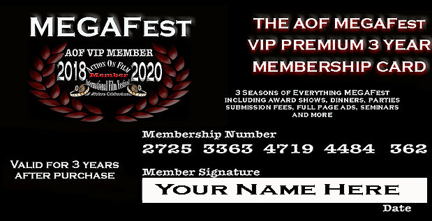 AOF MEGAFest VIP Membership Card Includes ALL  AOF Shows & Events For 3 Seasons