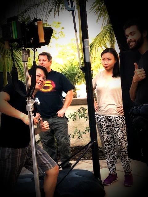 Lureen Wu On Set