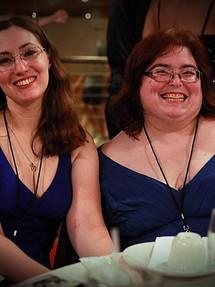 Amy and Rebekah McCauliffie