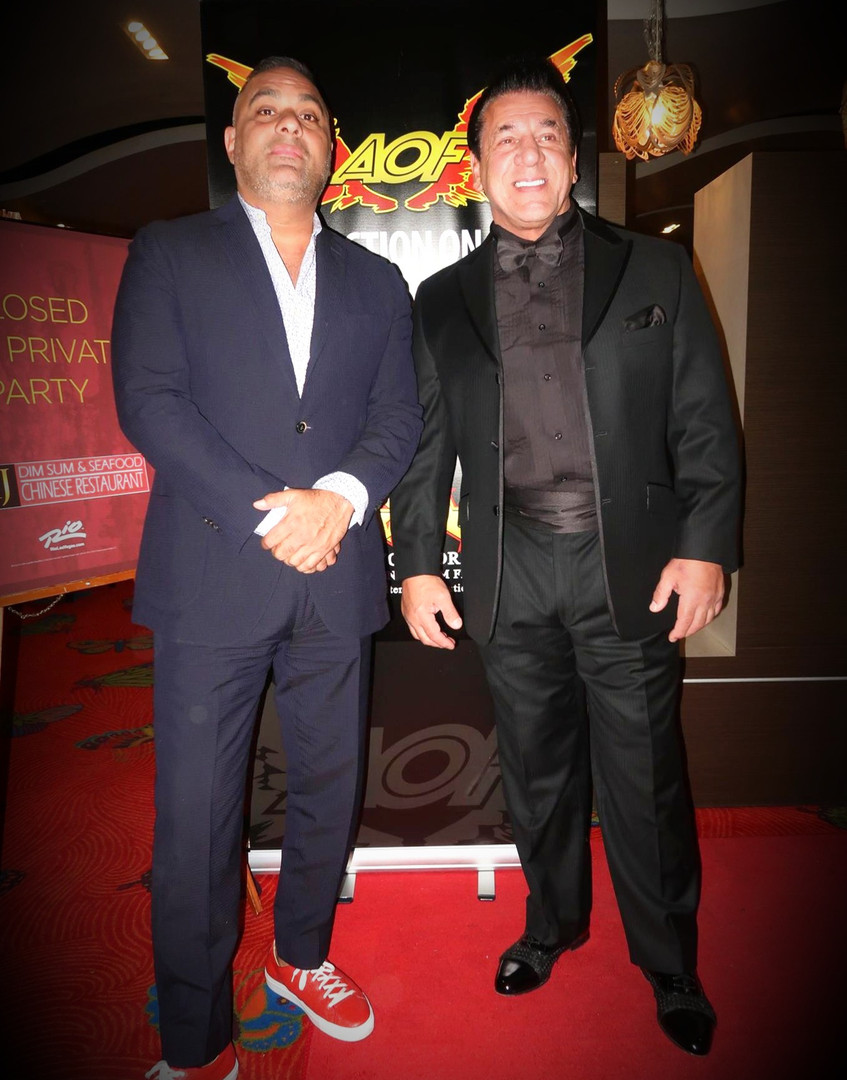 Russell Peters and Chuck Zito at Action
