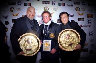 Soke Michael DePasquale jr with The Great Dr. Robert Goldman and Del Weston