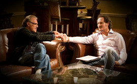 Nick Mancuso and Kim Coates on the Set of the AOF Channel