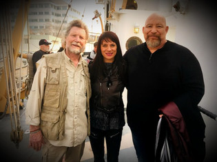 Vernon Wells Anabelle Munro and Del Weston On Set
