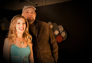 Del Weston with Natalie Forte on the Set of the AOF Channel