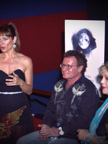The Queen with Philantropist Dr. Robert Goldman and Celebrity Susan Stafford