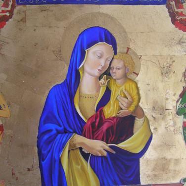 Blue Madonna - detail