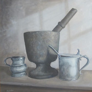 Pestle and Pewter (Old Times Still Life)