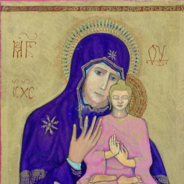 Purple Maddona and Buddha