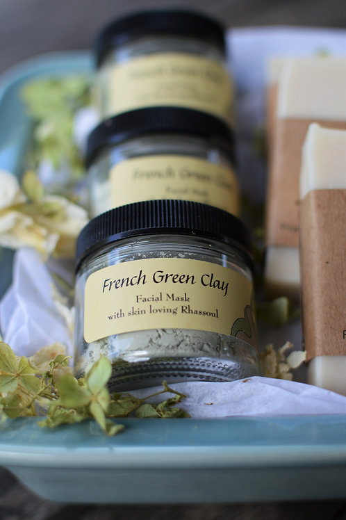 French Green Clay Face Mask (Oily Skin)