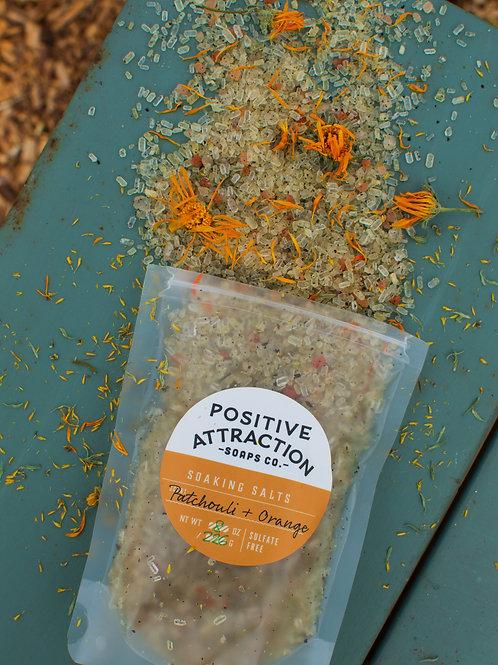 Patchouli + Orange Soaking Salts
